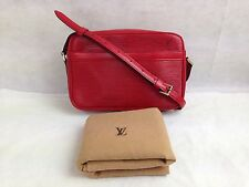Auth Louis Vuitton Epi Red TROCADERO Crossbody Shoulder Bag 5F30S620#