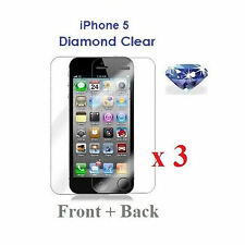 3X Full Body Front & Back Diamond Sparkle Glitter Screen Protector for iPhone 5