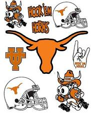 Texas Longhorns Scrapbooking Craft Sticker Sheet Set #1