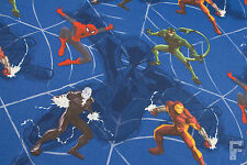 100% COTTON PRINTED FABRIC - MARVEL CHARACTERS - SPIDER-MAN & IRON MAN