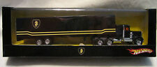 "Hot Wheels CUSTOM '75 KENWORTH W900 w/Trailer ""Knight Rider"" RR in Display Case"