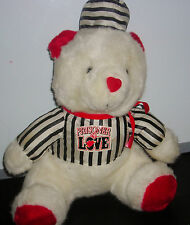 "GOOD STUFF PRISONER OF LOVE VALENTINE WHITE TEDDY BEAR 12"" PLUSH TOY"