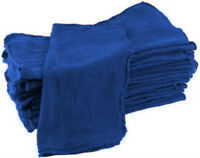 50 INDUSTRIAL SHOP CLEANUP RAGS / TOWELS BLUE