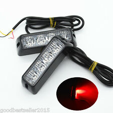 2x Car Pickup Red Waterproof LED Warning Hazard Beacon Flash Strobe Signal Light