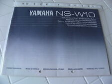 Yamaha NS-W10 Owner's Manual  Operating Instructions Istruzioni