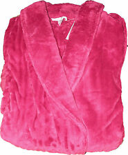"Slenderella Full Length 52"" Luxury Wrap Dressing Gown / Raspberry / Blue Green"