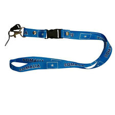 SOMALIA BLUE COUNTRY FLAG LANYARD KEYCHAIN PASSHOLDER .. NEW