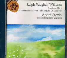 CD album: Ralph Vaughan Williams: Symphony N°5. André Previn. RCA. G