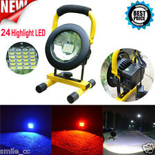 30W 24 LED Portable Flood Light Spot Work Camping Fishing USB Lamp Rechargeable