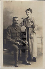 WW1 soldier Royal Fusiliers & Wife 3x overseas service chevrons