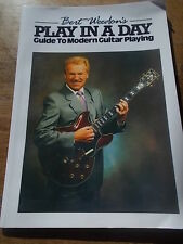 BERT WEEDONS PLAY IN A DAY Guide to Modern Guitar Playing Tutor Faber Music VGC