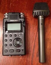 Tascam DR-100 MKII Portable 2-Channel Linear PCM Recorder Plus Microphone