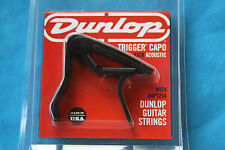 Special Deal! Dunlop Trigger Capo in Black with Free Strings, MPN 83CBA12