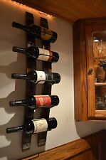 Rustic Wine Stave wine rack with Steel banding