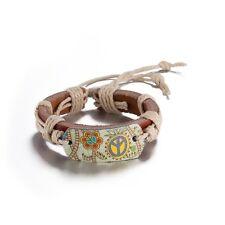 Delicate Fashion Women Charm Vintage Flower Leather Bracelet Bangle Jewelry NEW