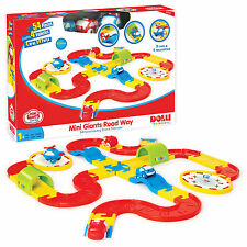 54 Piece Cars & Helicopter Road Track Playing Driving Toy Childrens Xmas Gift