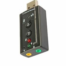 High Quality External USB 2.0 3D Virtual 7.1 Channel Audio Sound Card Adapter