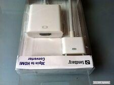 Sandberg 440-61 Adapter für Apple iPhone und iPad 30pin auf HDMI, NEU, Weiß