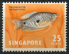 SIngapore 1962-6 SG#72, 25c Fish Definitive MNH #D18467
