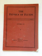 Physics of Fluids - Vol9/No10 - 1966 - vintage professional science journal