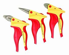 Wiha 32859 Insulated Inomic 3-Piece Set with Combination and Long Nose Pliers