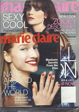 Zooey Deschanel Marie Claire Magazine Sep 2013 Nails Around the World SEALED
