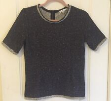 CAbi Spring 2014 Terry Boucle COCO SHELL Tweed Knit Top M