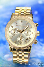 Michael Kors Women's Chronograph Ritz Gold Stainless Steel Bracelet Watch MK5676