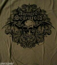 AVENGED SEVENFOLD cd lgo SCROLLED Official Grey SHIRT LRG new