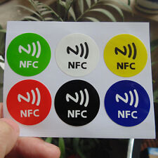 Waterproof NFC Tag Stickers Rfid Adhesive Label for Smartphone Chip NTAG213 New