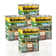 4 x Xyladecor Teak-Möbelöl farblos 0,75l farbloses Teaköl Möbelöl Bangkiraiöl