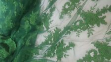High Quality Beautiful Green French Lace Fabric 1 yrd. Cheapest on ebay ! !