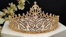 Romantic Princess Bridal Cubic Zirconia Gold Plated Tiara  Style # T-011-B