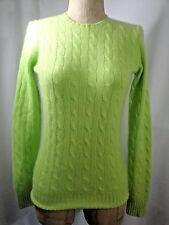 RALPH LAUREN Black Label 100% Cashmere Slim Fit Cable Knit Sweater Size Medium