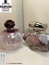 Gucci Bamboo & Dior Pure Poison Eau de Parfum for Her 2x 1 ml Glass Vial Samples