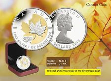 Canada Coin, 2013 CMC1305. 25th Anniversary of The Silver Maple leaf , Coin