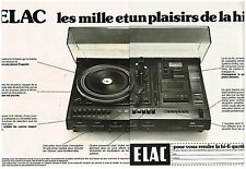 Publicité Advertising 1976 (2 pages) La Chaine Hi-Fi Elac