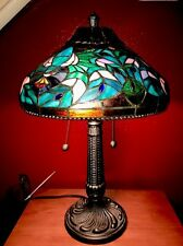 "Gorgeous Tiffany Studio Style Table Lamp Stained Glass Thomas Kinkade 22"" Tall"