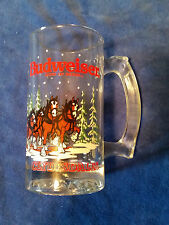"1992 Budweiser King Of Beers Clydesdales 5 1/2"" Holiday Mug"