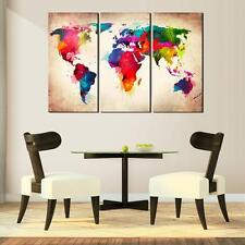 Canvas Prints Picture Wall Art Abtract World Map Hanging On The Wall Home Decor