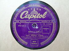 NAT KING COLE - Mona Lisa / Baby, Won't You Say You Love Me 78 rpm disc
