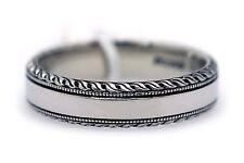 Scott Kay Mens Palladium PD950 6mm Wedding Band Ring Rope Edge G1035 Size 10.5