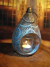 MOROCCAN LANTERN CANDLE HOLDER ANTIQUE COPPER METAL MOROCCAN STYLE LANTERN NEW