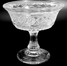 EAPG - Portland Glass Co. - Chain & Shield - Footed Compote