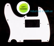 (C19) 3 Ply Left Handed Guitar Pickguard For Telecaster Tele humbucker ,White