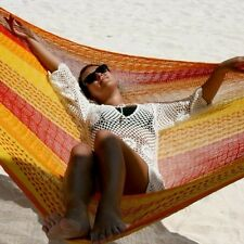Sale-Beautiful handmade Mexican Single hammock In Multi Or Natural Colors
