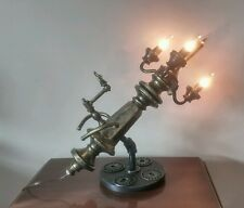 VINTAGE  INDUSTRIAL REPURPOSED ONE OF A KIND STEAMPUNK TABLE LAMP ART