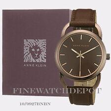 Authentic Anne Klein Women's Brown Leather Bracelet Watch 10/9927BNBN