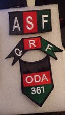 SPECIAL FORCES TEAM PATCH, ODA 361,QRF,AFGHAN SECURITY FORCE, MID EAST MADE