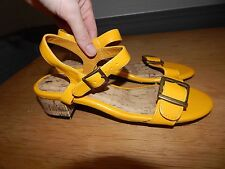 ✨Bnip Next Strappy Yellow Sandals In Size Uk 5 Rrp £28